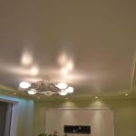 Сатиновый натяжной потолок